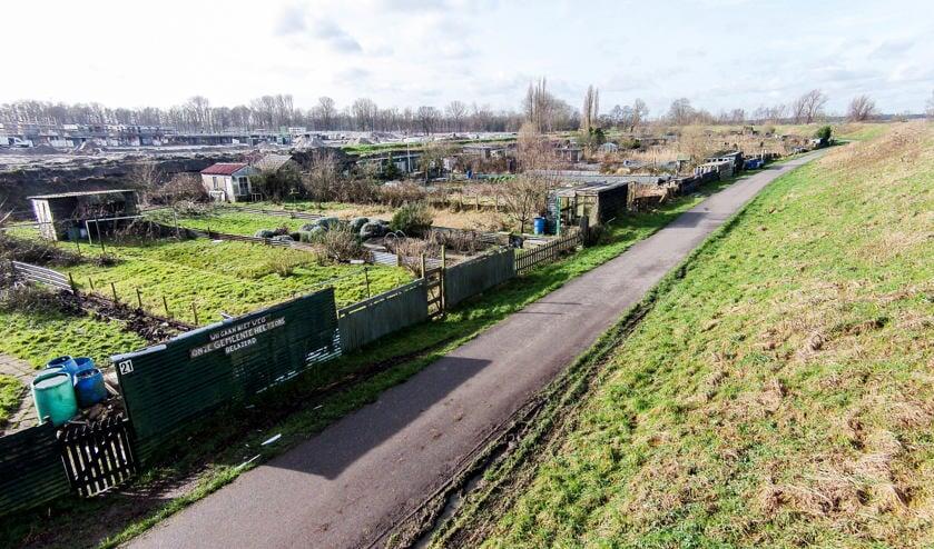 Januari: Volkstuinencomplex van de Westbatterij werd steeds leger.