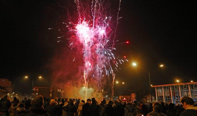 In het vuurwerkvrije centrum is wel weer een vuurwerkshow.