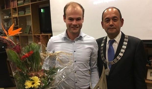 Kaj Moorman en burgemeester Ossel.