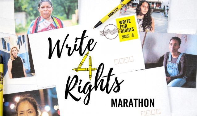 Maandag 10 december houdt Amnesty een schrijfmarathon