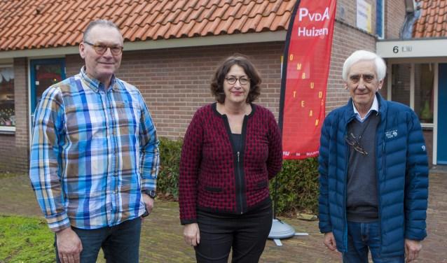 Stef van der Pas, Margot Leeuwin en Aad Bartelds van het Ombudsteam van de PvdA.