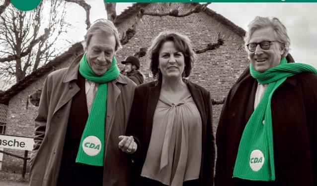 V.l.n.r.: Piet Oldenziel en Ellewies Claushuis en Gerard Knoop.