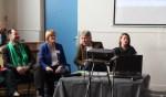 Vrijdag gaan de lijsttrekkers in debat met onder meer (v.l.n.r.) Olaf Streutker, Karin Walters, Wimar Jaeger en Femke van Drooge.