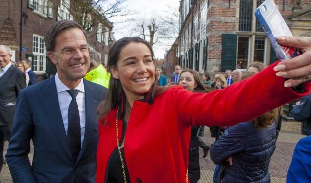 Een selfie met Mark Rutte.
