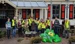 Dankzij de vrijwilligers, De Haven van Huizen en de gemeente is weer veel zwerfvuil opgehaald.