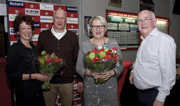 V.l.n.r. Marianne Tat, Stephen van Cleef, Marianne Verhage en Kees Visser zijn erg blij met deze vervolgstap voor de club.