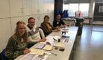 Het stembureau in De Schakel.