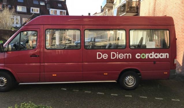 Het busje van De Diem.