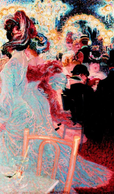 Jan Sluijters, Café de Nuit, Parijs 1906, 92 x 62,5 cm, Singer Laren, schenking Collectie Nardinc