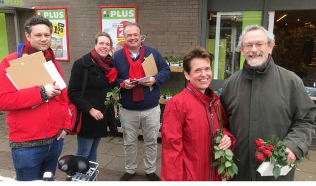 Het campagneteam van de PvdA.