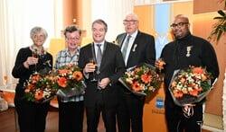 Els Nuisker-Tijhuis, Els Leijdekkers, Erik Boog, Bert van Heumen en Angelo Diop.