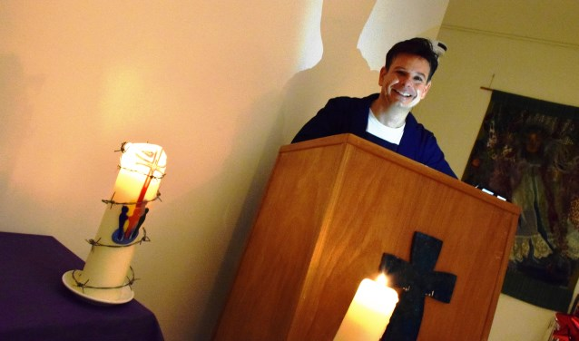 Voorganger Alexander Noordijk is blij met het LHBT-predicaat.