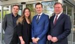 De beoogd wethouders: Boermans (D66), Van Rijn (CDA), Klink (VVD) en De Kloet (DorpsBelangen).