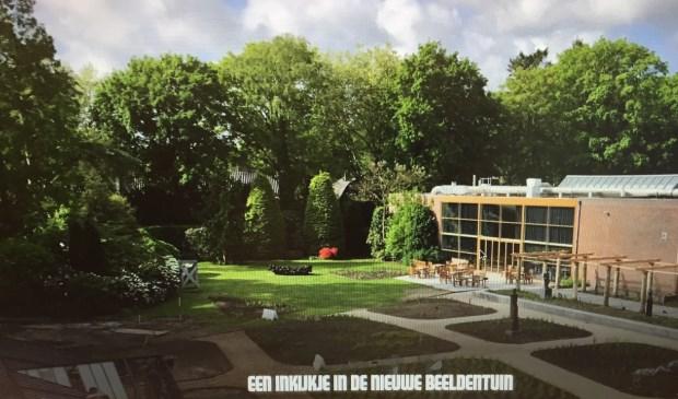 De door Piet Oudolf aangelegde beeldentuin bij Singer Laren.