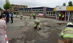 De gesimuleerde brand was bij een school.