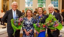 Ton Stam, Rinske Kruisinga, Karin van Hunnik en Peter Calis vormen het nieuwe college van burgemeester en wethouders.