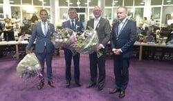 Maarten Hoelscher, Bert Rebel en Kees de Kok kregen een koninklijke onderscheiding van burgemeester Heldoorn.