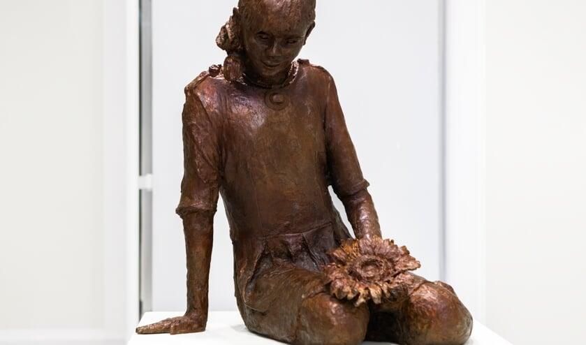 Het bronzen beeld van Mireille is nog tot en met zondag te zien in Museum Hilversum.