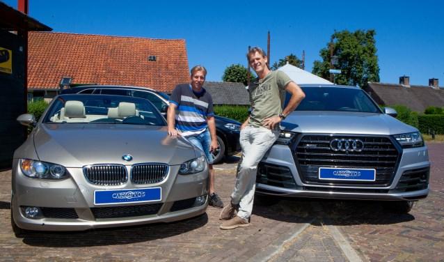 Maurice Bonke en Marc Schoutens van Cars@Vos in Blaricum.