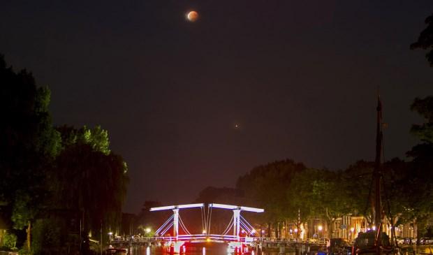 Maansverduistering 27 juli 2018, Weesp, Nederland