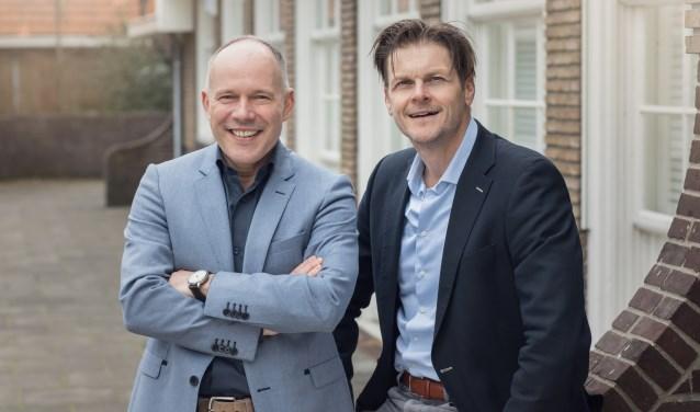Florencius-directeur Peter van Kranenburg (l) en adjunct-directeur Gerwin Kets.
