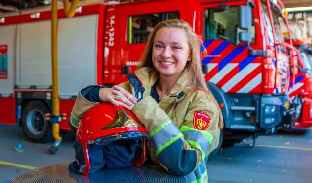 Romy is als aspirant nu in opleiding voor manschap bij de vrijwillige brandweer.