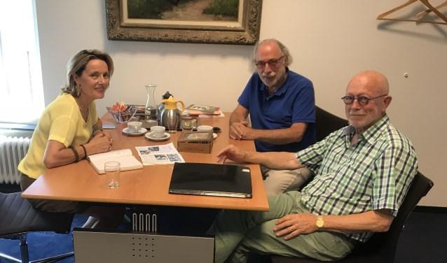V.l.n.r. Karin van Hunnik, Leo Janssen en Hans van Deuren.