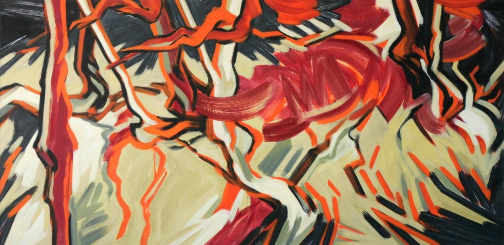 Robert Zandvliet, Zonder titel, 1999, tempera op linnen, 201 x 401 cm. Foto: Singer Laren © Enter Media