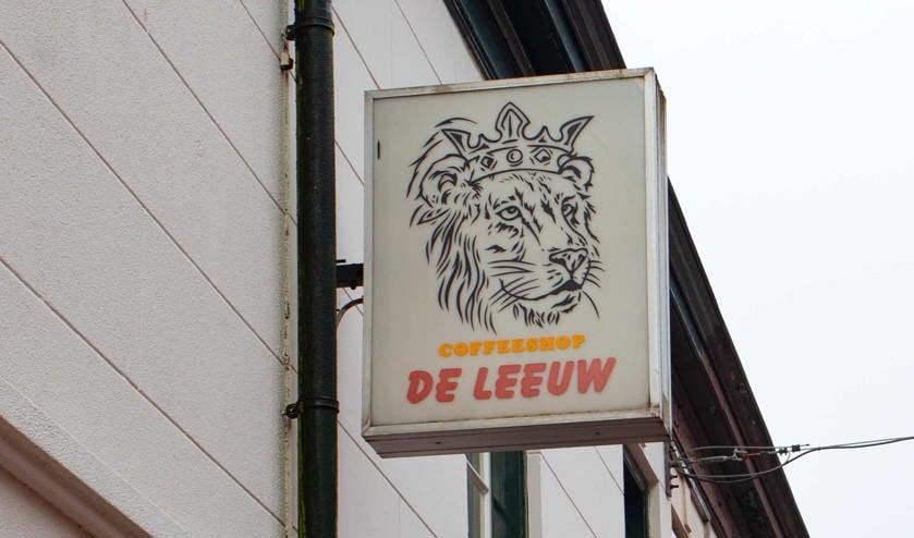 Coffeeshop De Leeuw aan de Leeuwenstraat.