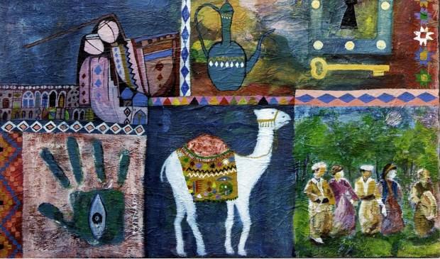 Schilderij Sahar Kader.