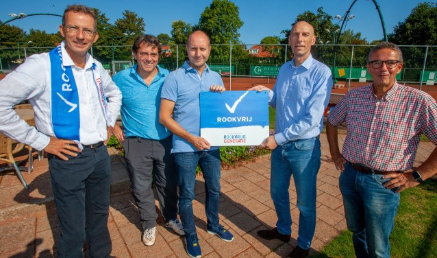 Tennisvereniging Naarden is vanaf nu rookvrij.