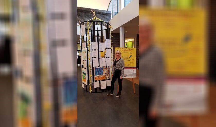 Kunstenares Janine Boot en Vriend van Stichting Kunst in Laren.
