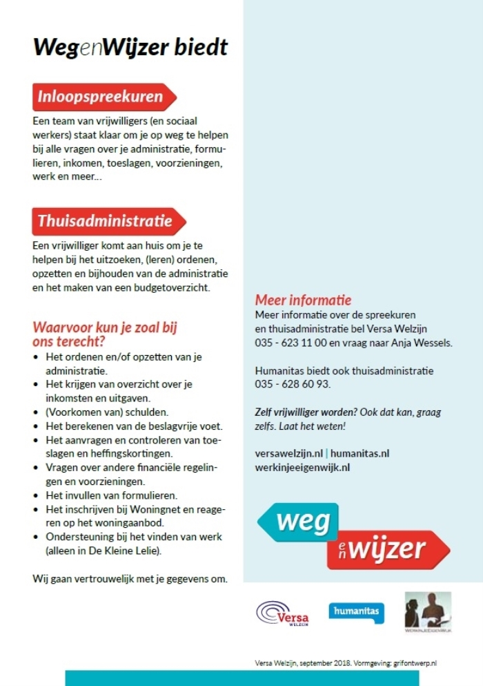 Versa Welzijn, september 2018.