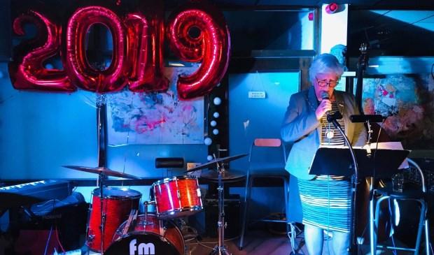 Loco-burgemeester Anne-Marie Kennis bracht de nieuwjaarsspeech van de burgemeester.