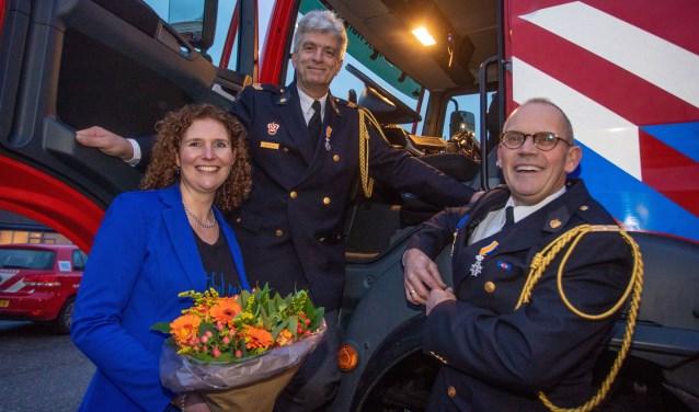 Miriam Kos-Molenaar, Bert de Bruin en Mijndert Keijer namen afscheid. De laatste twee kregen ook nog een onderscheiding.