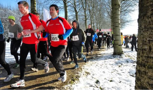 In 2013 liepen de deelnemers door de sneeuw.