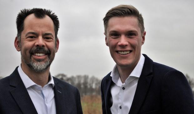 Olaf Streutker en Dennis Heijnen (rechts)