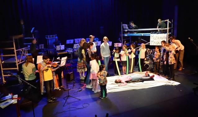 Muziekschool Diemen treedt regelmatig op.