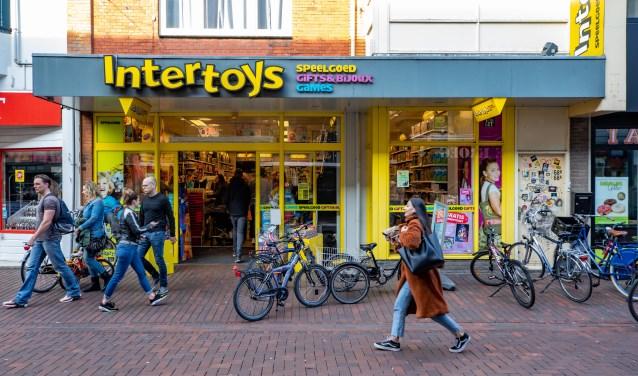 De winkel aan de Leeuwenstraat.