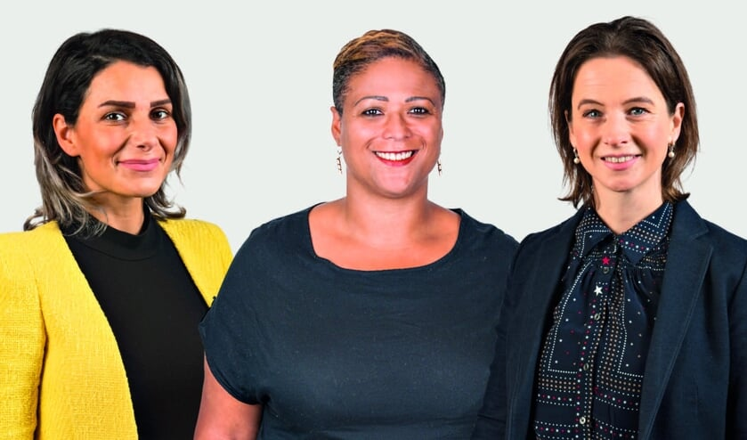 Van links naar rechts: Samaneh Jawanmardi, Saskia Mendeszoon, Maud Niemöller.