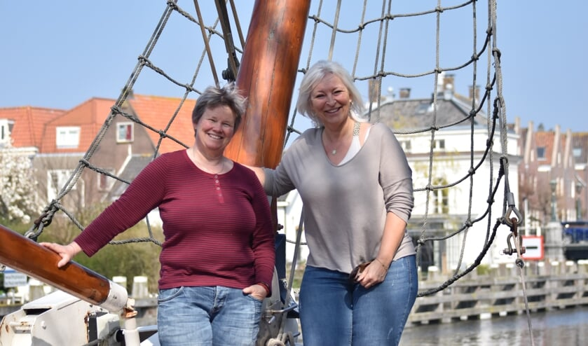 Leon Oosterbroek en stadspromotor Annemarie van Lieshout.