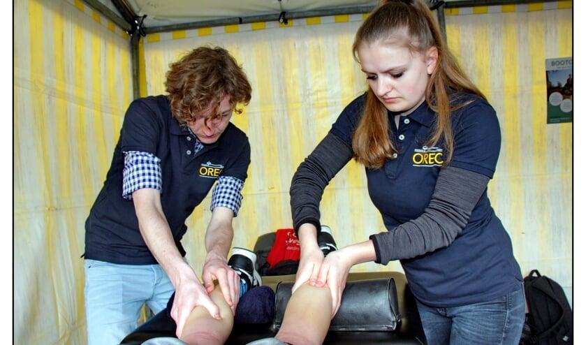 OREC verzorgt tijdens de City Run  vooral massages en een stukje begeleiding.