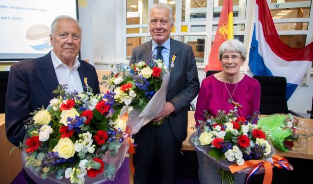 Bert Hansman, Gerard van Gelswijck en Magda Griffioen kregen een koninklijke onderscheiding.