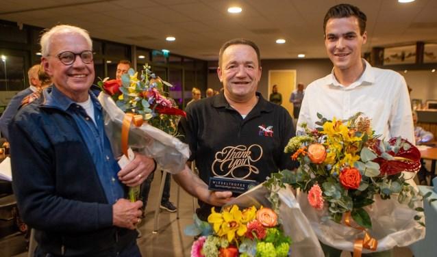 Feije van der Meulen (midden) met naast hem Jelmer Rebel (rechts) en Richard van den Brakel.
