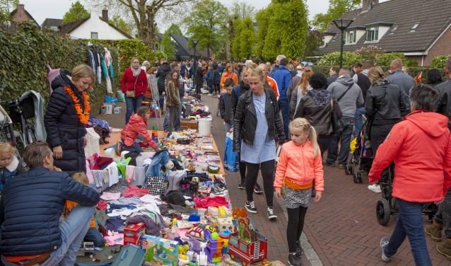 De kindervrijmarkt wordt ook dit jaar weer gehouden op Koningsdag.