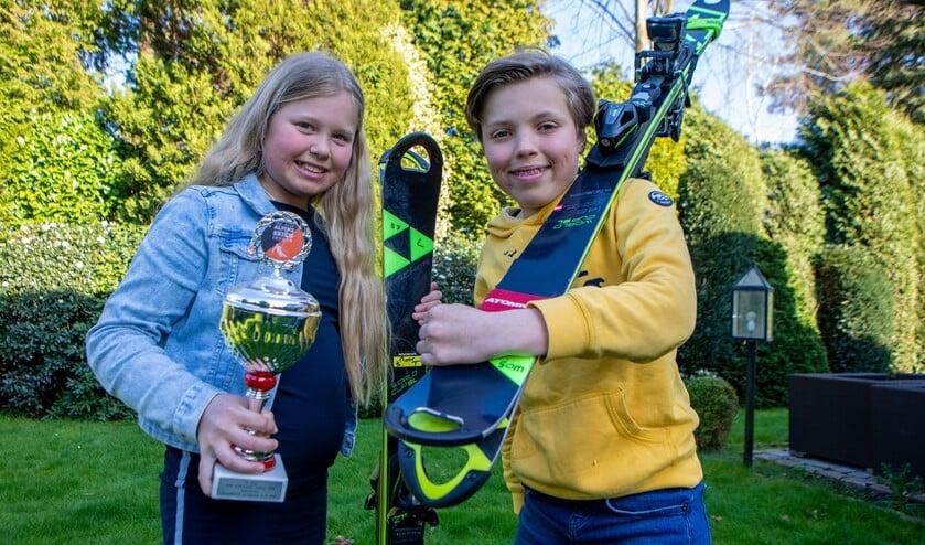 Noor en Olivier Suttorp staan van jongs af aan op de ski's en beoefenen hun sport op topniveau in het juniorenselectieteam.