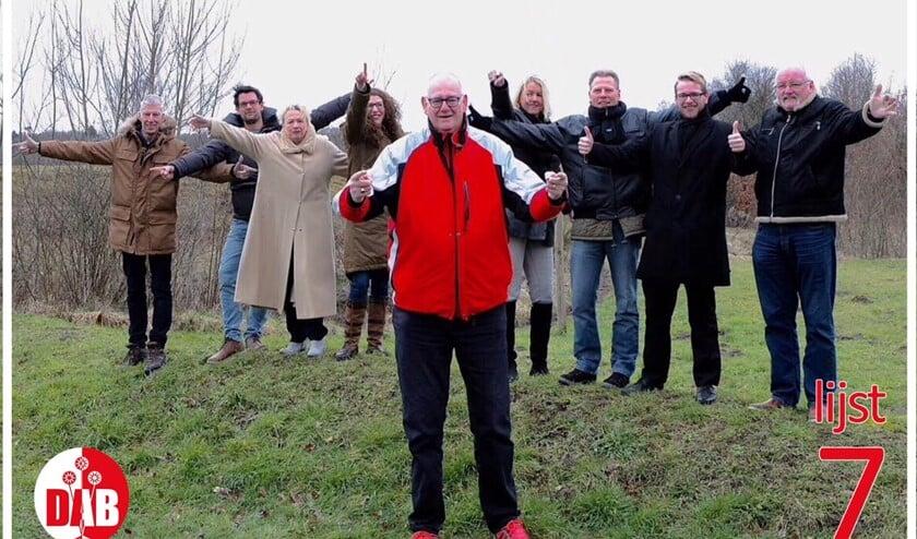 Fractievoorzitter Rob Bruintjes met zijn achterban.