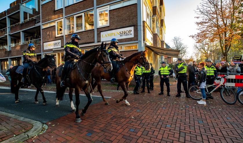 Veel politie op de been bij de laatste intocht.