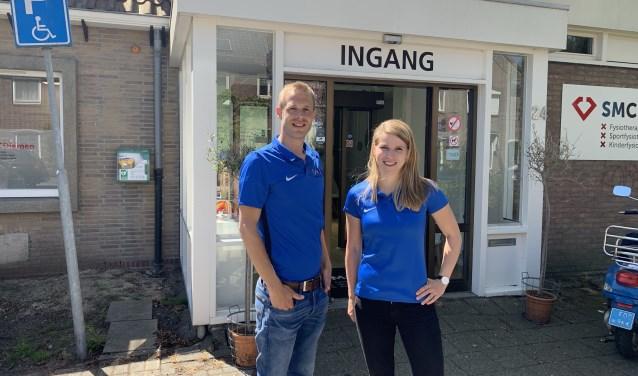 Osteopaten Remco Lindeman en Nica Wesselink.