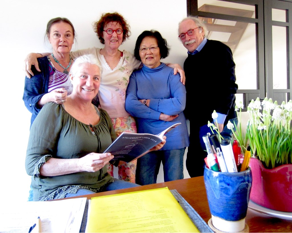 Het bestuur van Atelierroute Laren.